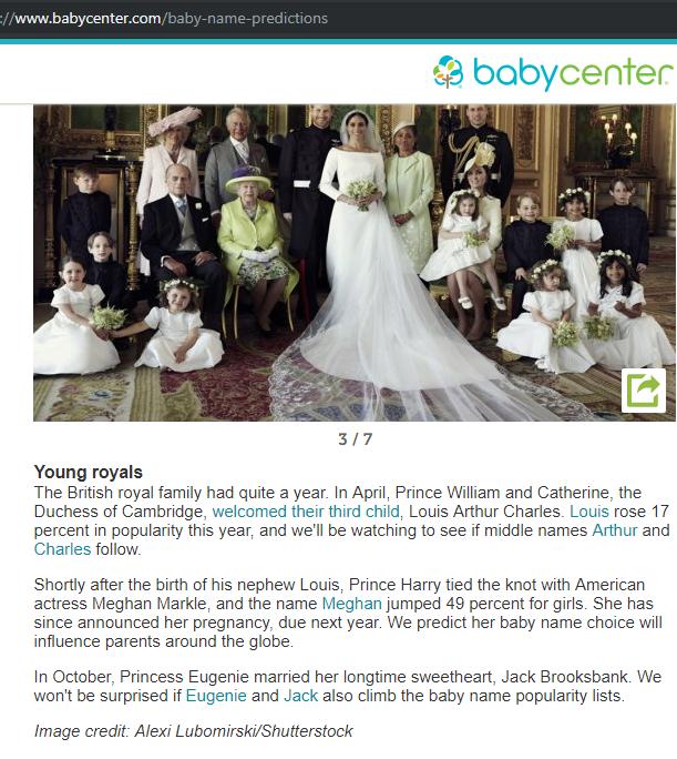Meghan Markle Influences Baby Names - Meghanpedia