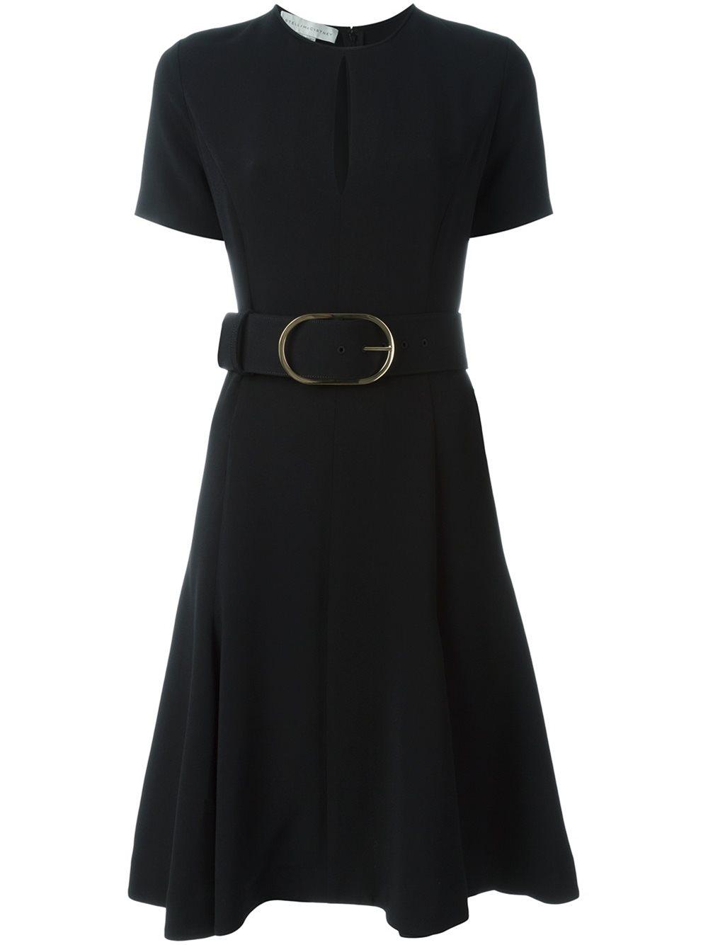 Stella McCartney belted keyhole detail dress