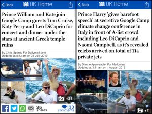 Daily Mail double standard