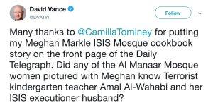 David Vance Camilla Tominey