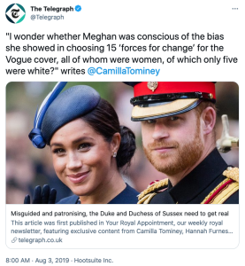 Camilla Tominey Forces For Change Meghan