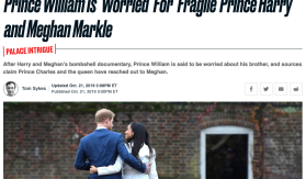 William insults Harry and Meghan