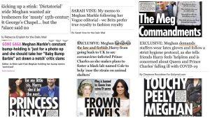 Hateful headlines attacking Meghan