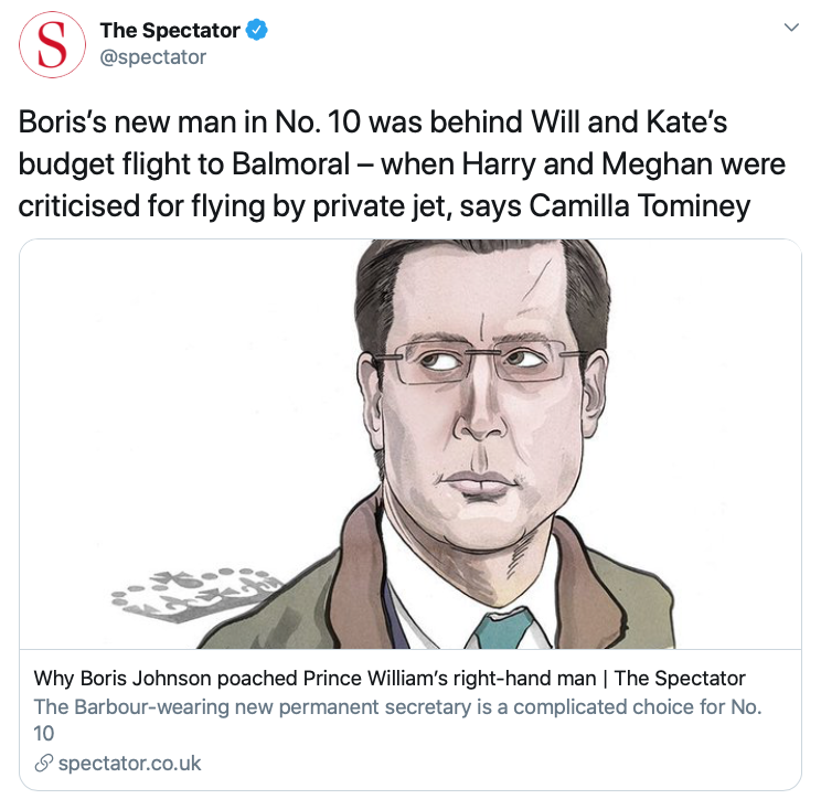 Simon behind Will and Kate's budget flight