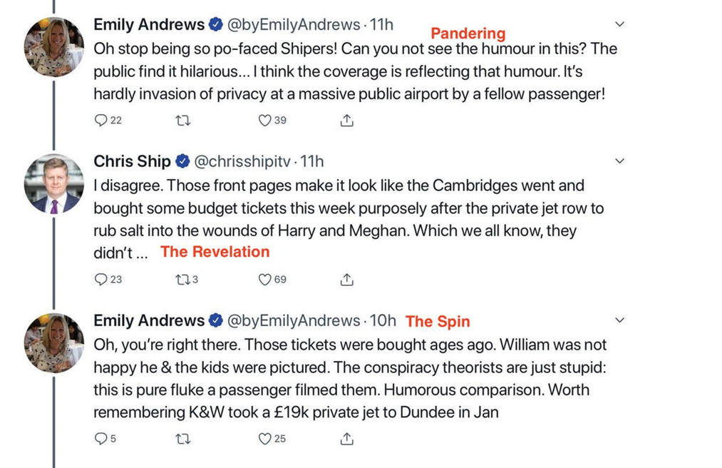 Emily Andrews and Chris Ship flight pr stunt