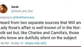 Tweeter confirms William's affair