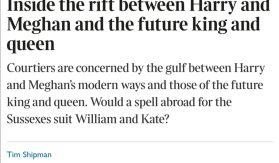 Rift between Sussexes and Cambridges