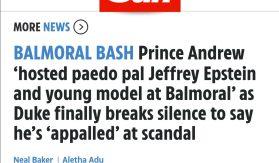Prince Andrew and Epstein paedo