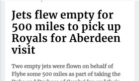 Jets flew empty for 500 miles to pick up Will and Kate