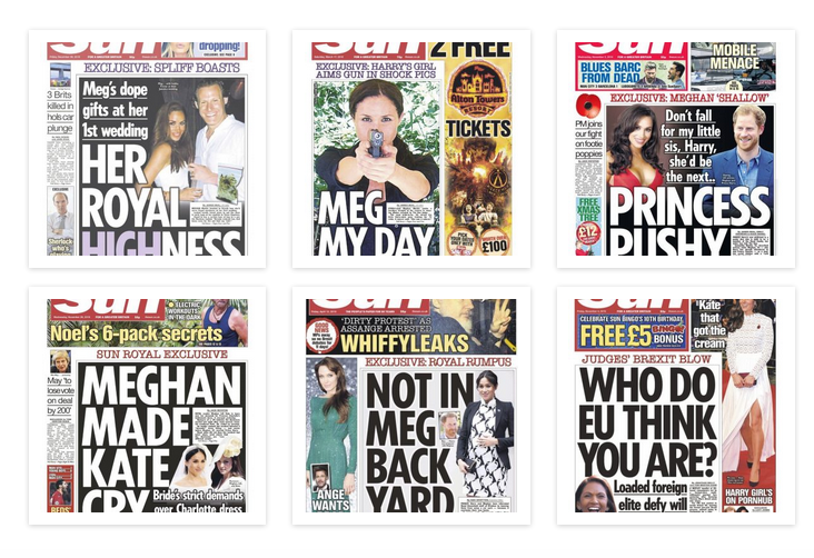 the-sun-smear-campaign against Meghan