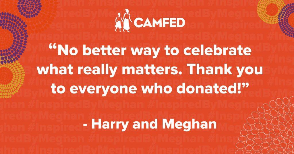 Camfed Harry and Meghan