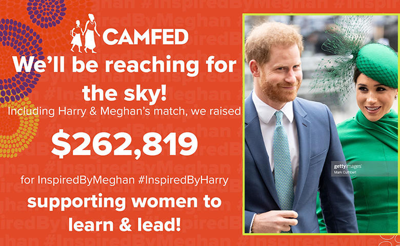 Prince Harry and Duchess Meghan Match SussexSquad's $130,000 Donation for Girls Education