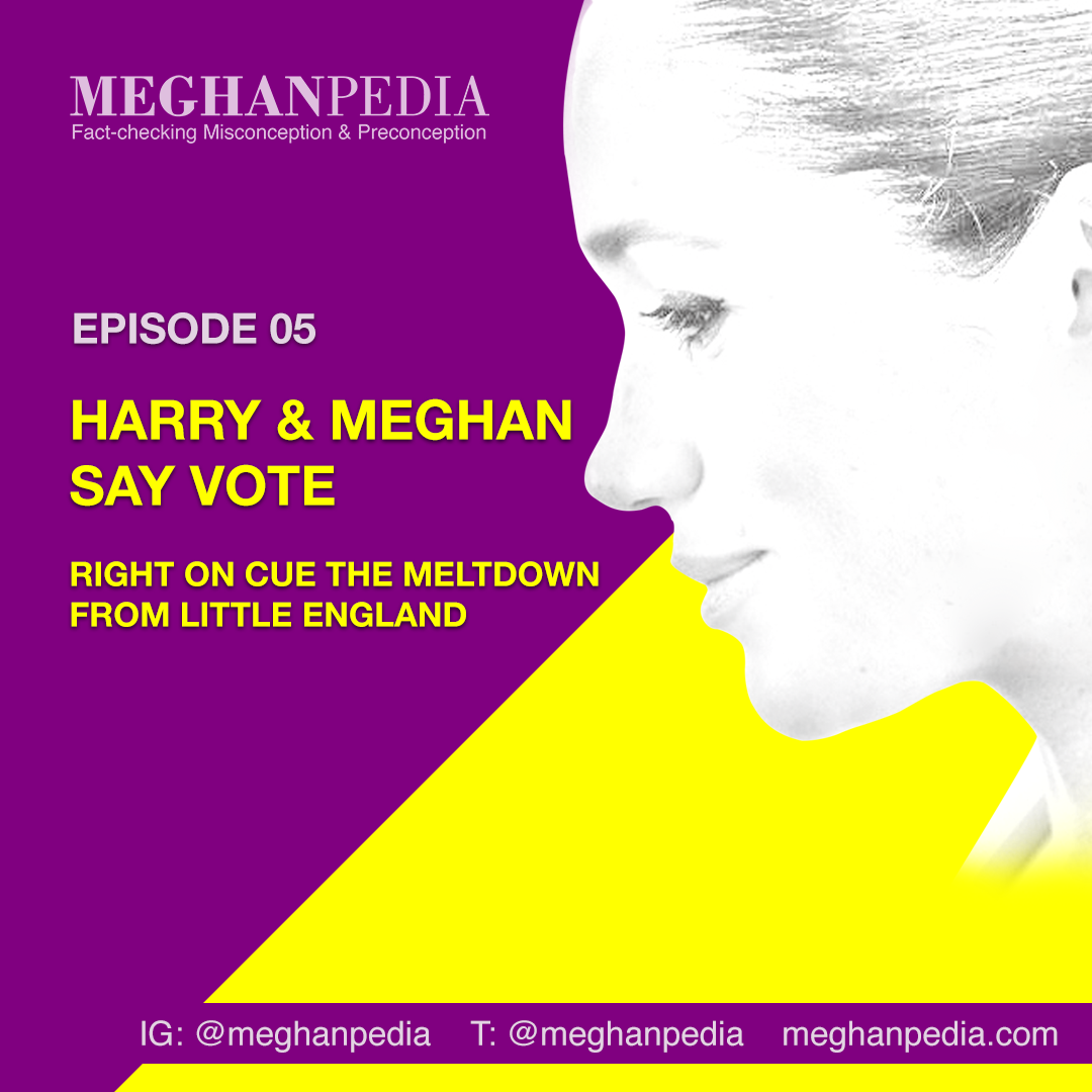 Meghanpedia podcast Harry and Meghan say vote