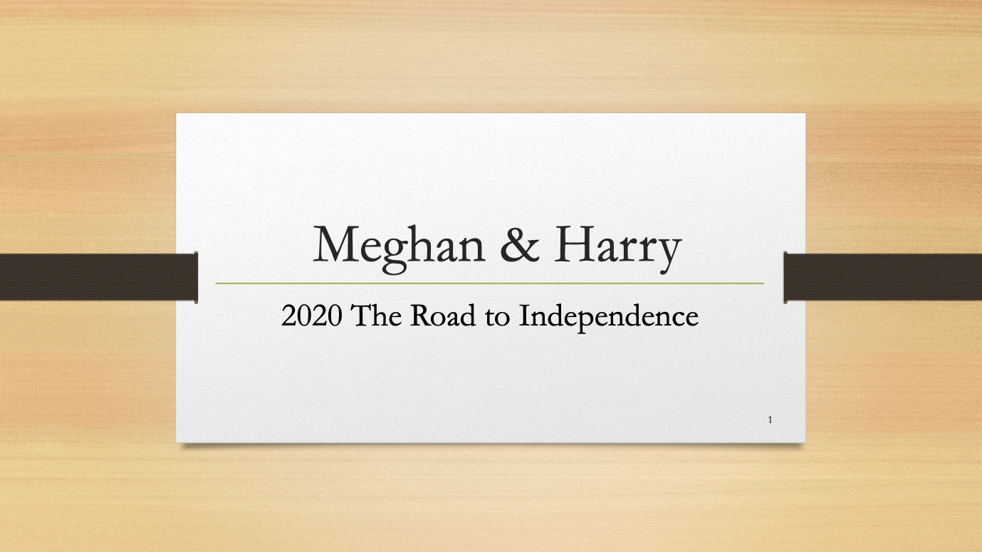 Meghan And Harry - 2020 The Road To Independence