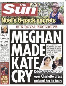 Meghan Made Kate Cry Lie