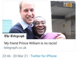 Prince William's Emergency Black Friend