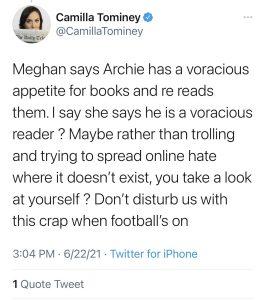 Camilla Tominey attacks Baby Archie