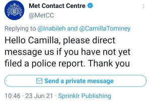 Camilla Tominey ignores Met Police Death Threat